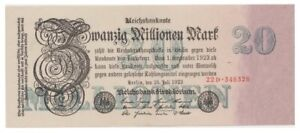 2o Millions Marks German banknote issued in 25.07.1923 22D aunc