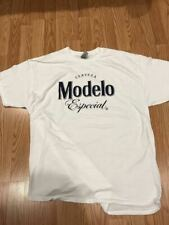 MODELO ESPECIAL BEER LOGO WHITE T SHIRT SIZE LARGE XL