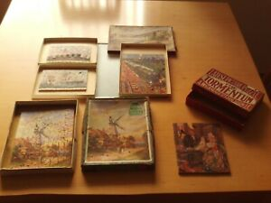 Vintage X5 Wooden Jigsaw Puzzles.
