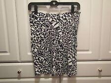 BCBG Max Azria NWT Womens Skirt Size 8 Black and White Flare