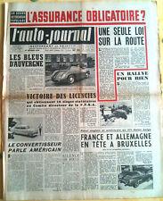 L'AUTO-JOURNAL n°95 du 2/1954; Assurance Obligatoire ?/ Lancia Aurelia/ Salon