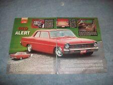"1967 Chevy II Nova 2-Door Sedan RestoMod Vintage Article ""Red Alert"""