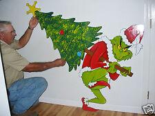 GRINCH STEALING THE CHRISTMAS TREE CHRISTMAS YARD ART DECORATION 28'' X 20''
