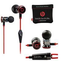 Genuine Monster Beats By Dr Dre Ibeats Metal in Ear Headphones Earphones Black