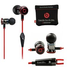 Genuine Monster Beats By Dr Dre Ibeats Metal in Ear Headphones Earphones Black