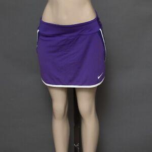Nike Dri-FIT Women's Size MEDIUM Purple & White Skort Shorts Attached Skirt VGC