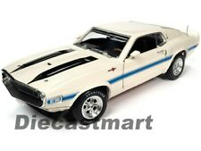 1970 Ford Mustang Shelby Gt500 Fastback White in 1 18 by Auto World Amm1229