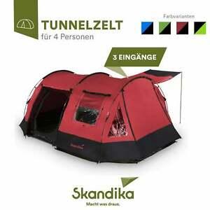 Skandika Kambo 4 Personen Familienzelt Campingzelt Tunnel B-Ware