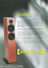 Prospekt Audio Physic Tempo Lautsprecherboxen HiFi brochure Loudspeakers 2002 GB