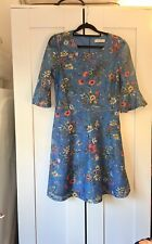 Oasis Blue Coctail Dress, Size Small