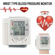 LCD Digital Wrist Blood Pressure Monitor Measure Heart Rate Pulse Meter KW