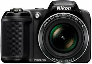 Nikon Coolpix L340 20.2 MP Digital Camera +28x Optical Zoom and 3.0-Inch LCD (Bl