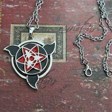 "Naruto Sharingan 2"" Metal Pendant Necklace Chain Anime Cosplay"