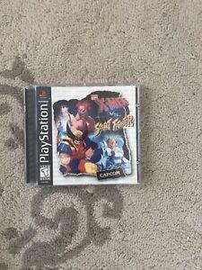 X-Men vs. Street Fighter (Sony Playstation 1, 1998) PS1 CIB Complete Marvel NICE