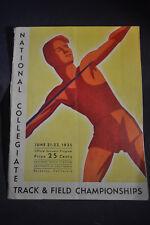 1935 National Collegiate Track and Field Program Univ California - *JESSE OWENS*