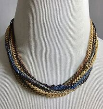 Multiple Chain Necklace Costume Jewelry 18""