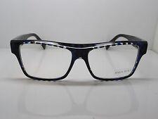 ead537059c NEW Authentic ALAIN MIKLI A0 3004 B09E Black Blue Checkered 55mm Eyeglasses