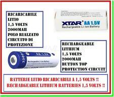 batteria aa litio 1,5 v volts ricaricabile 2000mAh 1,5v pila stilo XTAR 3300mWh