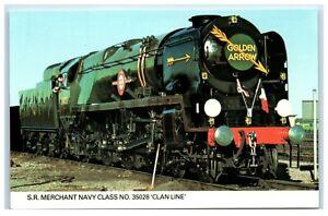 Postcard Steam Railway S R Merchant Navy Class No. 35028 Clan Line