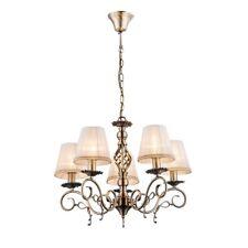 5-flg suspendu Lampe bronze Blanc Luminaire Éclairage tissu la vie ess chambre