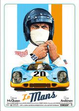 """""""Le Mans"""" Steve McQueen & Elga Andersen Vintage Film Poster 1971"""