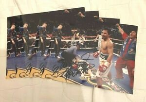 """4 x Manny Pacquiao vs Ricky Hatton Signed Boxing Prints (10"""" x 8"""")"""