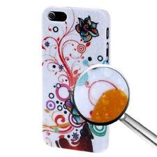 HardCase Raindrops Fashion für Apple  iPhone 5 5S SE  Flower bunt Hülle Case Cov