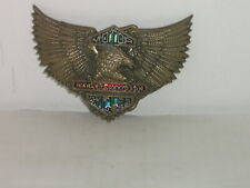 Harley Davidson Eagle Logo 1983 Brass Belt Buckle by Baron H-506