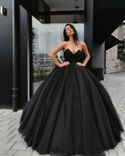Red Black Sweetheart Wedding Dress Bridal Gown Sleeveless Ball Gowns Custom Size