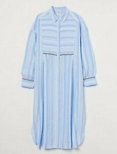 H&M WOMAN NWT SS21 lemlem x H&M Linen shirt dress ALL SIZES 0963655001