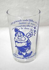 Vtg 1938 Snow White and The Seven Dwarfs Drinking Glass W D Walt Disney Doc 3.5""