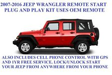 2007 -2016 JEEP WRANGLER PLUG AND PLAY REMOTE START WITH CELLPHONE CONTROL & GPS