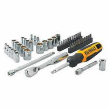"DeWALT, 1/4"" Drive 50 Piece Mechanics Tool Set Kit,Sockets Bits Ratchet"