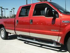 """Fits Ford F-150 2004 - 2008 Crew Cab 7"""" Stainless Steel Rocker Panel 12 pc."""