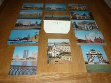 Vintage set of 1980's MOSCOW Postcards in Wallet. Unused. Collectable