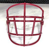 Schutt Super Pro NJOP Brick Red Adult Football Helmet Facemask NOS