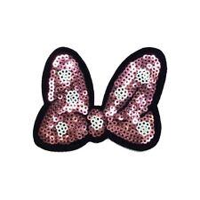 Sequin Pink Bow (Iron On)