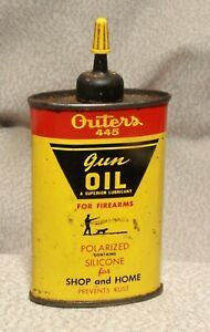 VINTAGE OUTERS 445 GUN OIL 3OZTIN CAN PARTIALLY FULL FIREARMS Excellent Cond