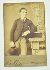 Rare Victorian CDV Cabinet Card Australian Male Portrait With Gay Love Note!!!!