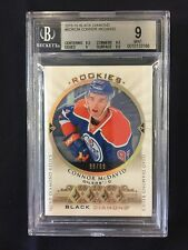 2015-16 Black Diamond Connor McDavid Quad Relic Diamond Rookie #98/99 BGS 9 MINT