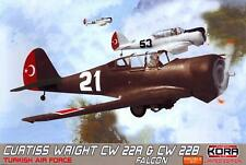 KORA Models 1/72 CURTISS WRIGHT CW 22R & CW 22B FALCON DOUBLE KIT!