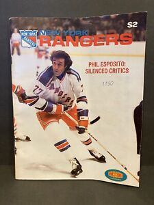 1980-81 NEW YORK RANGERS vs. LOS ANGELES KINGS Program Phil Esposito NYR RARE!