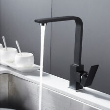 Modern Square Victorian Kitchen Sink Basin Mixer Taps Black Brass Mono Faucet