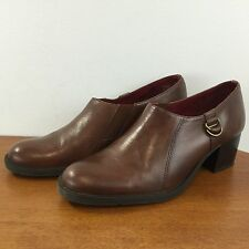 NATURALIZER 9M Brown Leather Bootie Style Pumps Quality Comfort Heels Womens 9M