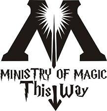 Harry Potter Stile Decalcomania sticker in questo modo al Ministero della Magia Muri Porta