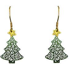 Sienna Sky O Christmas Tree Filigree Pierced Earrings ~Handcrafted in Colorado~