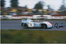 REINHOLD JOEST HAND SIGNED PORSCHE 908 6X4 PHOTO NUERBURGRING 1972.