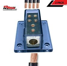 4//8 GA Solid Base Weatherproof Vehicle Cable Power Ground Distribution Block US