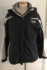 North Face Jacket Womens Small (P) Removable Hood Black Gore Tex Fleece Lining