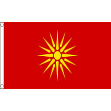 Macedonia Old Flag 5Ft X 3Ft Macedonian Country Banner With 2 Metal Eyelets